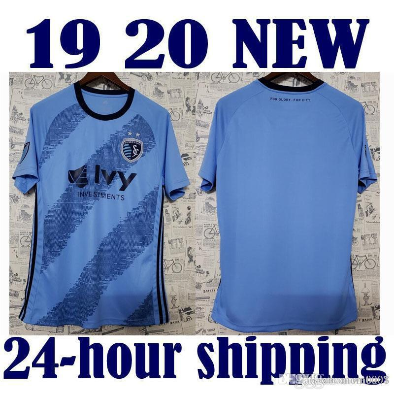 2019 MLS Sporting Kansas City Maglie da calcio Sporting Kansas City Home BLUE Soccer Shirt 2019 Football Uniform