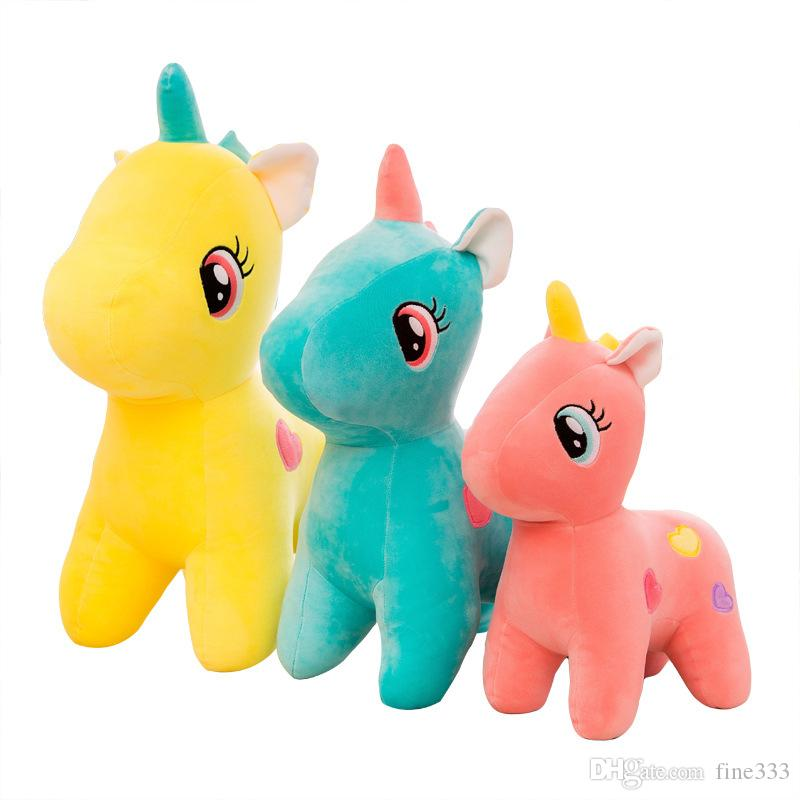 8Inch Pony Unicorn Apple Jack Rainbow Dash Stuffed Animals Pony Doll Plush Toy Best Gifts For Kid ,Friend,younger sister