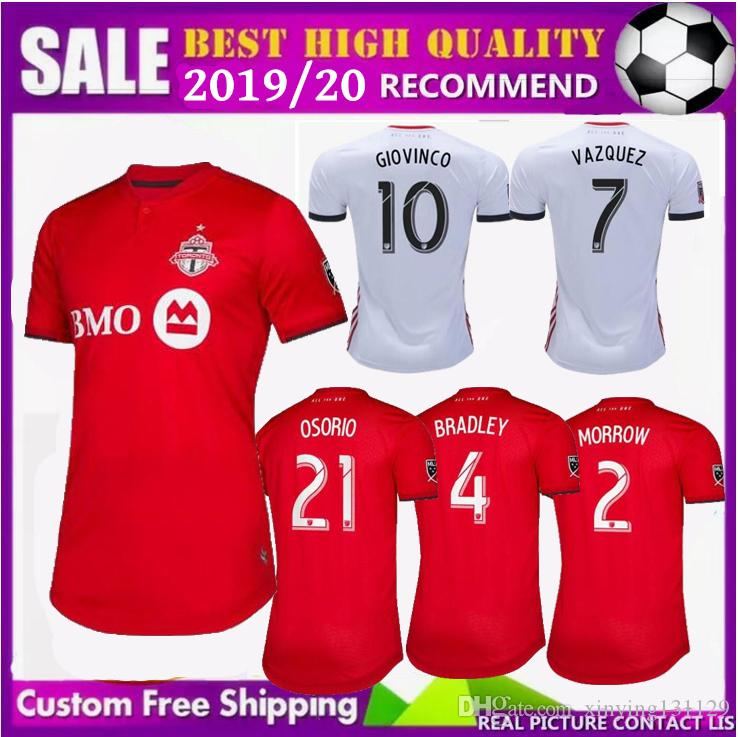 size 40 3943d 73d76 FREE Ship 2019 2020 new MLS Toronto FC Away Soccer Jersey 19 20 GIOVINCO  BRADLEY ALTIDORE White Soccer Shirt 2019 Football Jersey Uniform