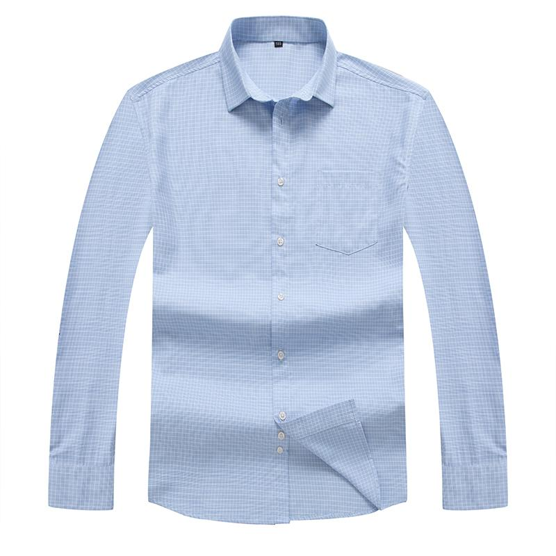 8XL 7XL High Quality Men's Oxford Casual Shirts Leisure Design Plaid Men's Social Shirts Cotton Long Sleeve Dress