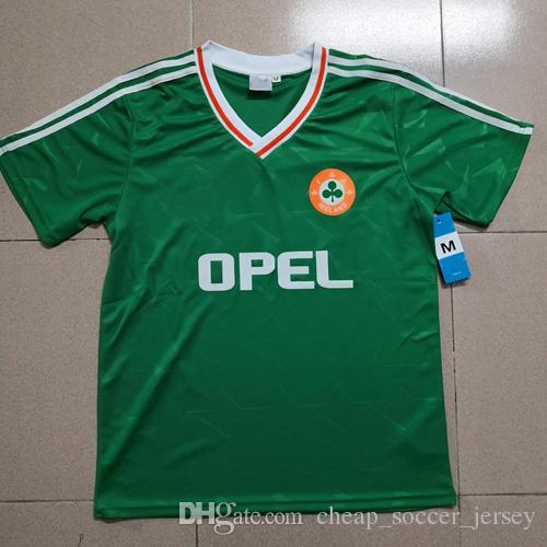 040bd572d 2019 Top Thailand 1990 1992 Ireland RETRO Soccer Jerseys Republic Of  Ireland National Team Jersey 90 World Cup Football Kit Soccer Shirt Green  From ...