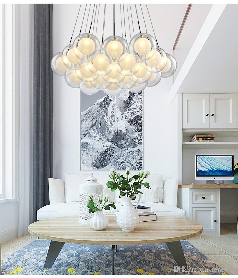 Acquista Moderno Lampadario LED Soggiorno Luci Sospese Illuminazione ...