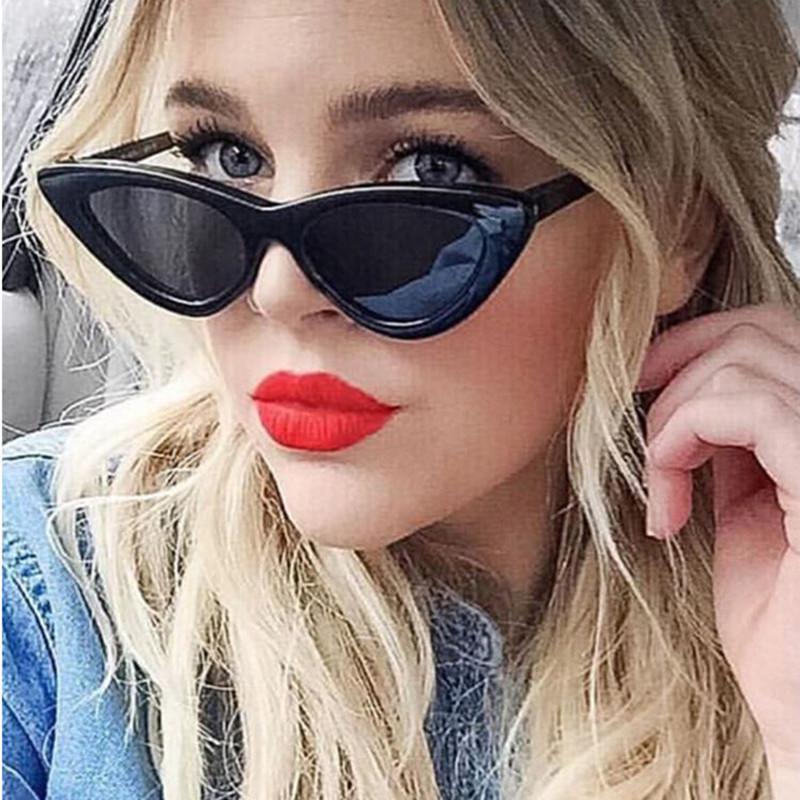 07f21715d9f9 2018 NEW Cute Sexy Retro Cat Eye Sunglasses Women Small Black White ...