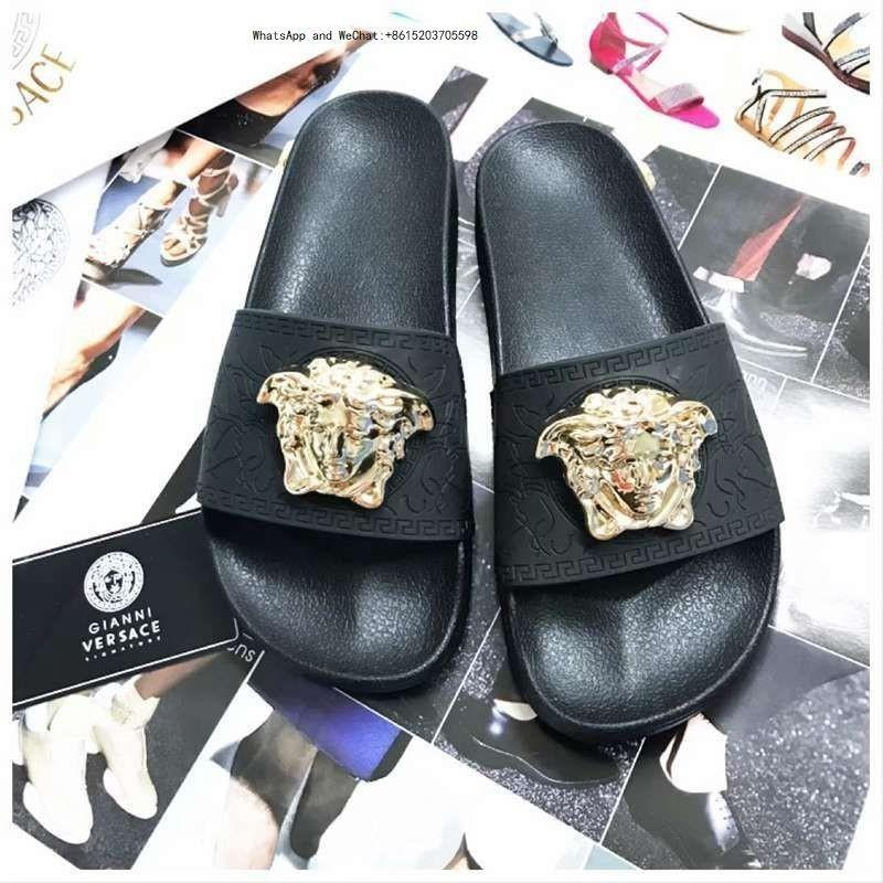 155f11f13 Brand New Arrival Fashion Web Rubber Slide Pure animal pattern Women's Shoes  Flowers And Comfortable Outdoor Flat Sandals Beach Slippers