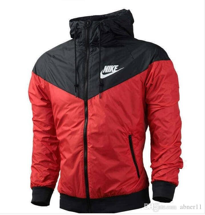 selected material get online san francisco NEW thin windrunner Men Women NIKE sportswear quality waterproof fabric Men  sports jacket Fashion zipper hoodie plus size 3XL #758
