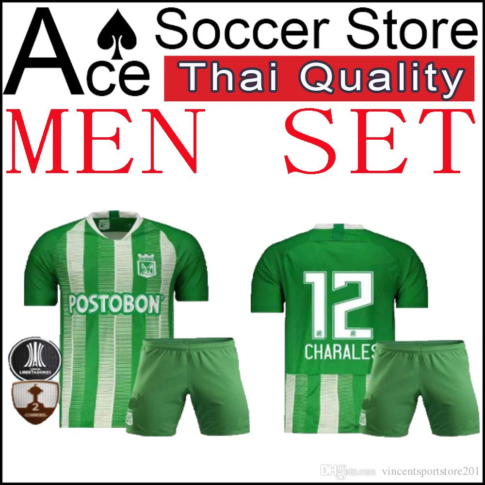 cc25f49ce 2019 New Atletico Nacional MEN SET Soccer Jersey Home Away 19 20 Colombia  Club Medellin H.BARCOS Palacios Daniel Adult Kit 2019 2020 Shirt From ...