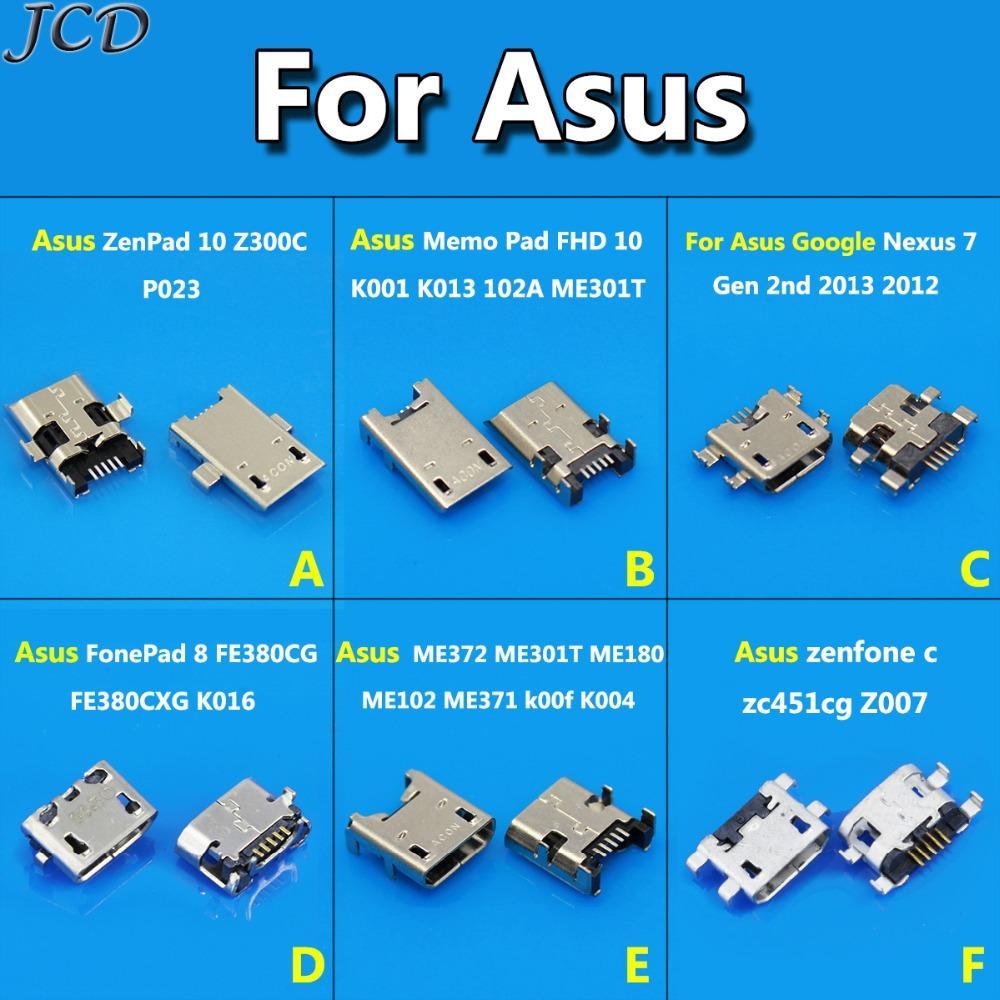 JCD For Asus Memo Pad 10 Z300C K001 K004 K016 zc451cg Z007 Nexus 7 Micro  USB Jack socket connector charging port data dock plug