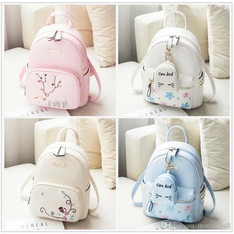 31ecc666734 Women Mini Backpack Female Casual Solid Bag Cloth Waterproof Bag Portable  Travel Bag Teenage Schoolbag