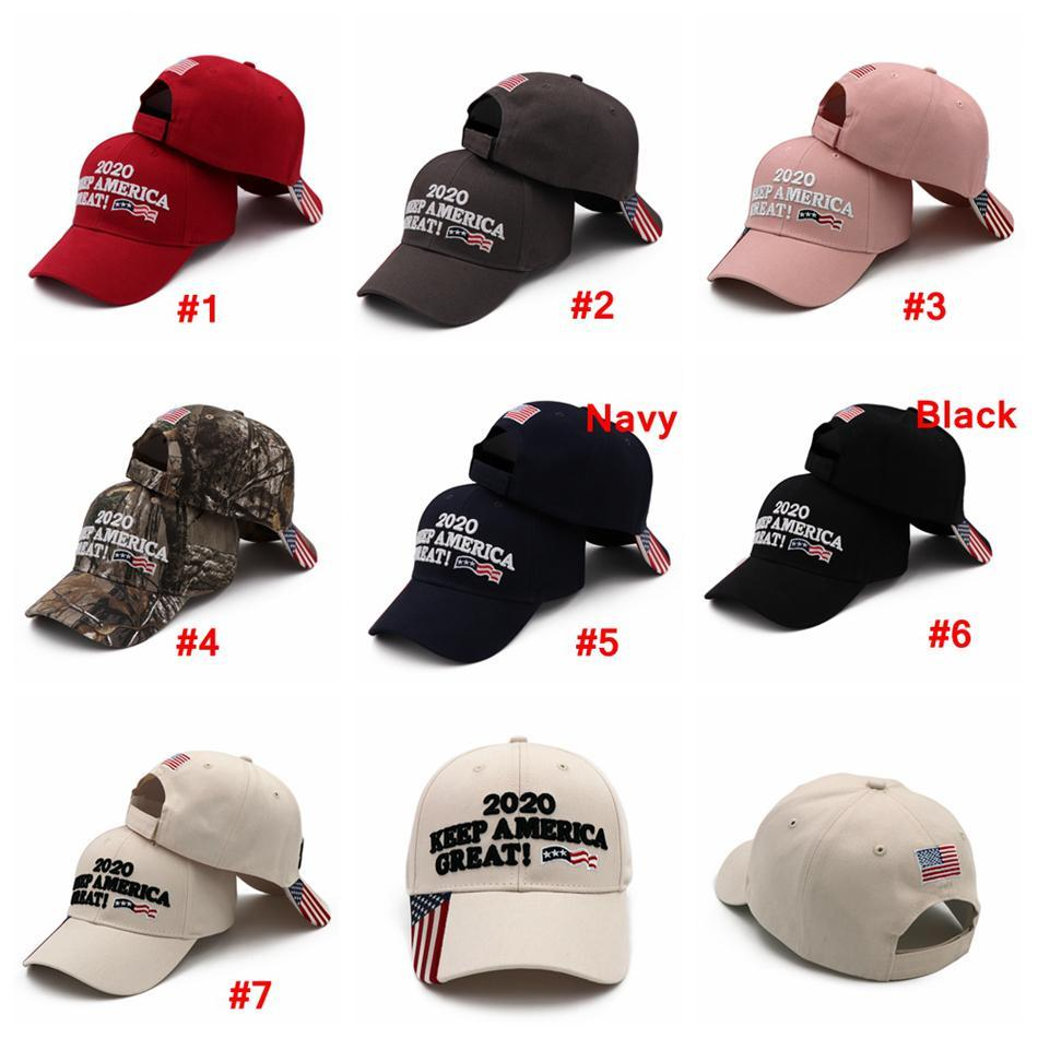 2020 Donald Trump Baseball Cap Outdoor Embroidery KEEP America Great Hat Sports Cap Stars Striped USA Flag Cap Snapback AN3203