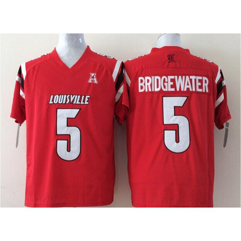 new arrival 80c2a 1c658 Mens Louisville Cardinals Teddy Bridgewater Stitched Name&Number American  College Football Jersey Size S-3XL