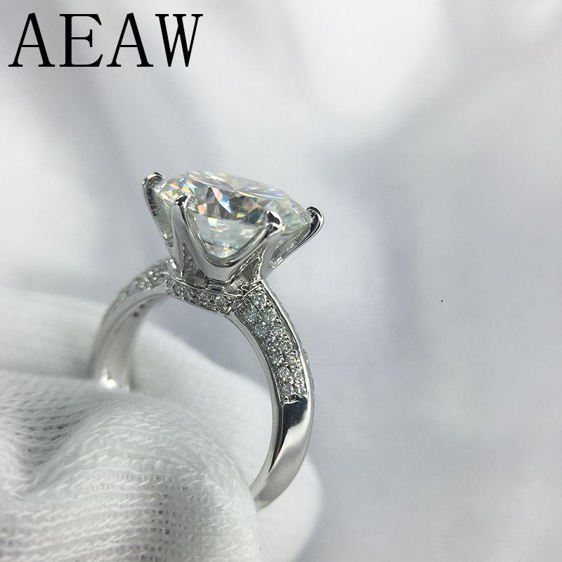 2+ct Black Moissanite Solitaire Diamond 925 Sterling Silver Engagement Earrings Gemstone Fine Earrings