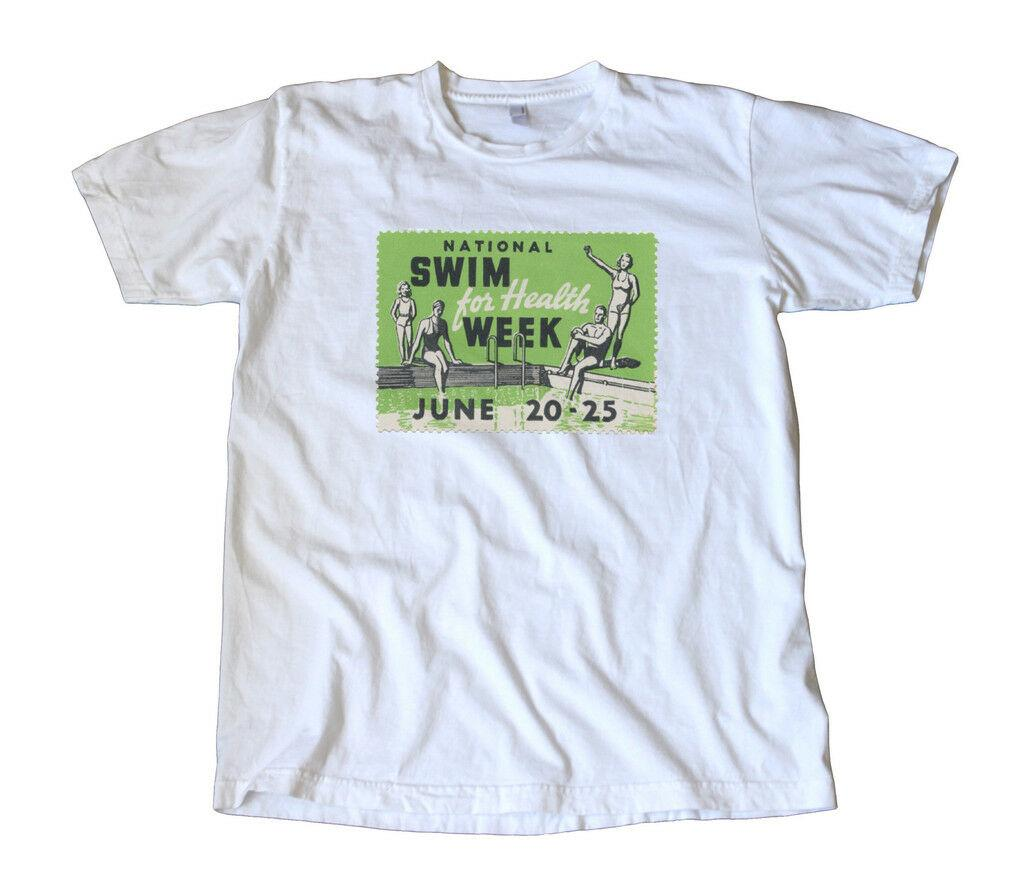 955ed63d Vintage Swim For Health Week Stamp T Shirt Fitness Funny Unisex Casual  Tshirt Really Funny T Shirts Funny Vintage T Shirts From Buyfriendly,  $12.96| DHgate.