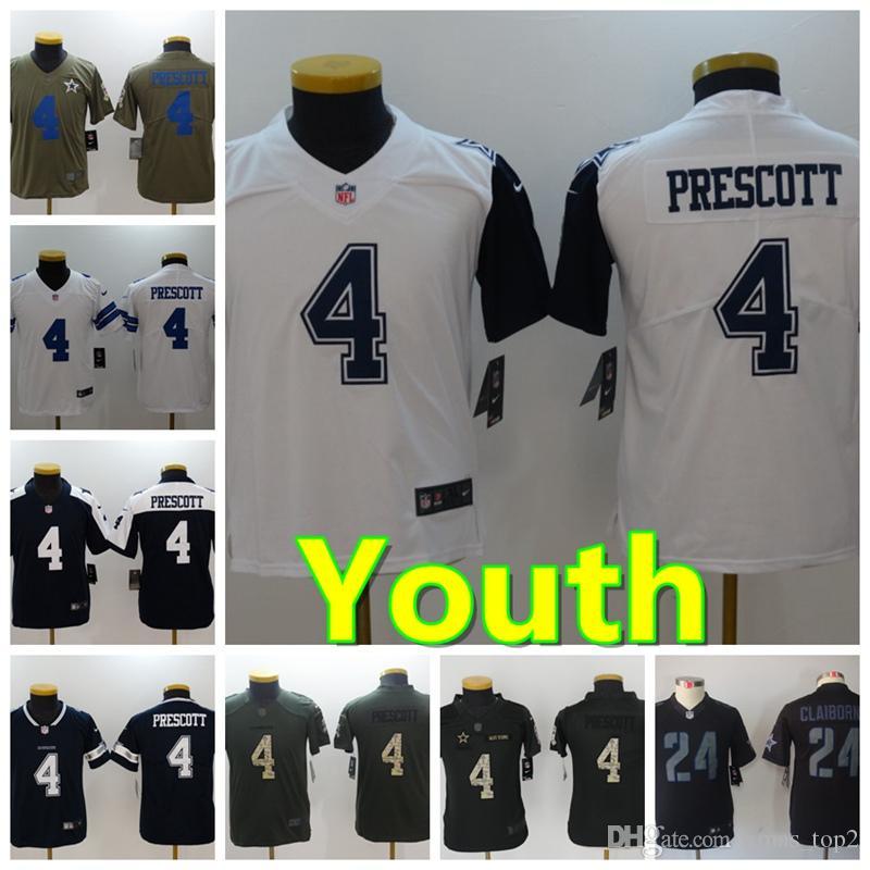 09ca8a201f2 ... shop youth 4 dak prescott dallas jersey cowboys football jersey 100  stitched embroidery dak prescott color