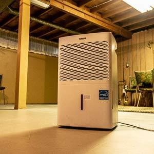 Tosot 70 Pint Dehumidifier, Energy Star Certified, for Spaces up to 4500  sq  ft, Perfect for Basements, Portable with Wheels