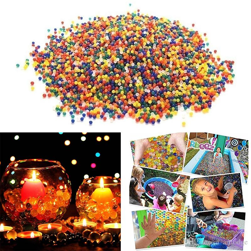 50000 pcs Solid Color Orbeez Crystal Growing Swelling Water Beads Growing Balls for Water Toy Pistol Crystal Mud Home Decor