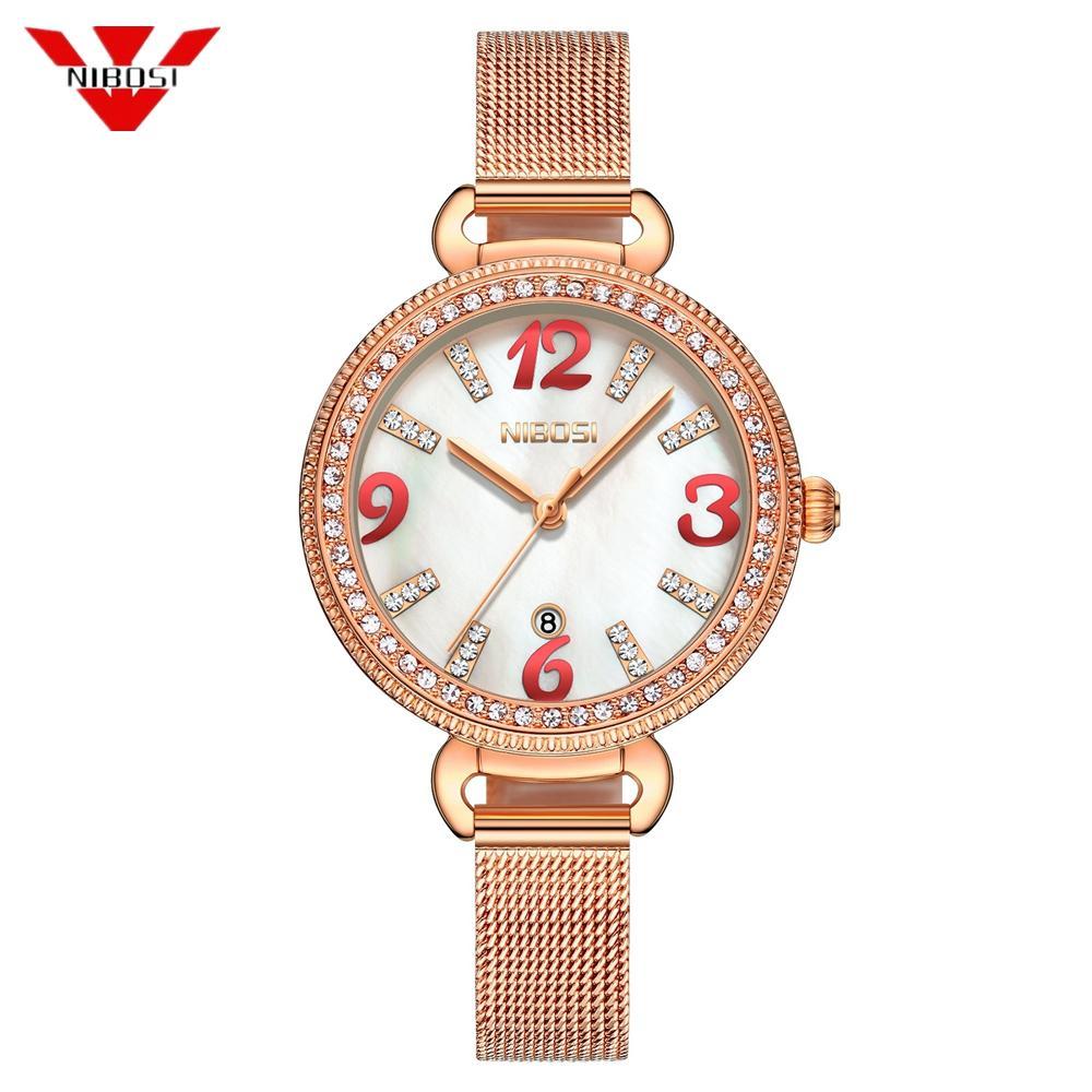 4272498956f57 Nibosi Fashion 2018 Watch Women Luxury Brand Unisex Popular Womens Watches  Quartz Stainless Steel Dial Band Wristwatch Clock Gold Watch Cool Watches  From ...