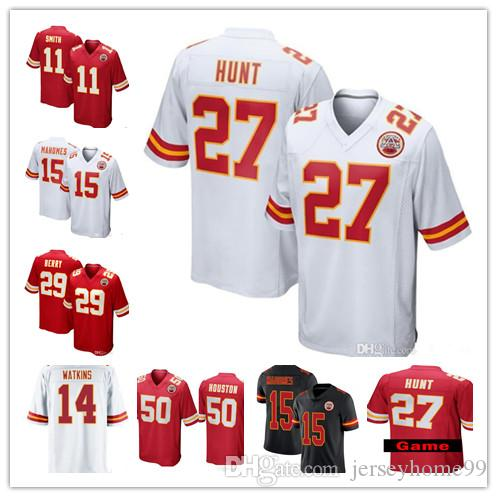 ada8ab362 2019 15 Patrick Mahomes II Jersey Stitched Kansas City 10 Chiefs Tyreek  Hill 27 Kareem Hunt 87 Travis Kelce Eric Berry Thomas Houston Fisher 11  From ...