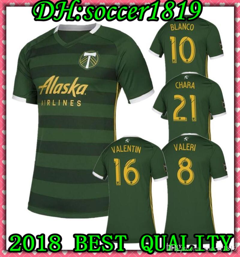 sports shoes 947c6 0ca29 2019 2020 MLS Men s Portland Timbers home soccer jerseys 19 20 Valeri  Blanco Chara Futbol Camisa MLS Football Camisetas Shirt Kit Maillot