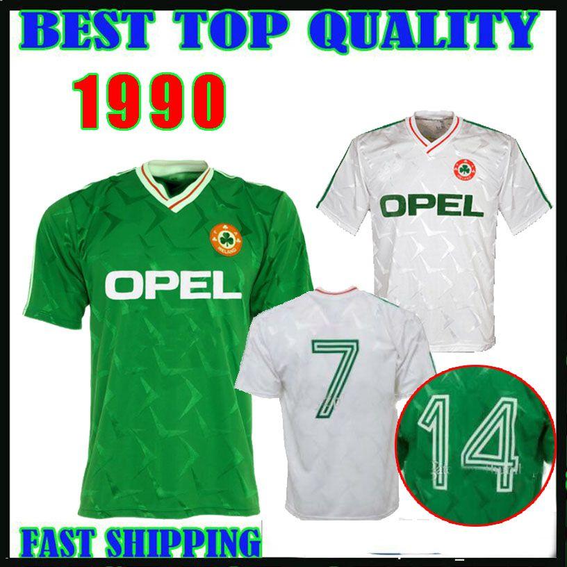 63ff3b55c958 2019 1990 1992 Ireland Retro Soccer Jersey 1990 World Cup Ireland Home Away  Classic Vintage Irish Sheedy Thailand Quality S XXL Football Shirts From ...