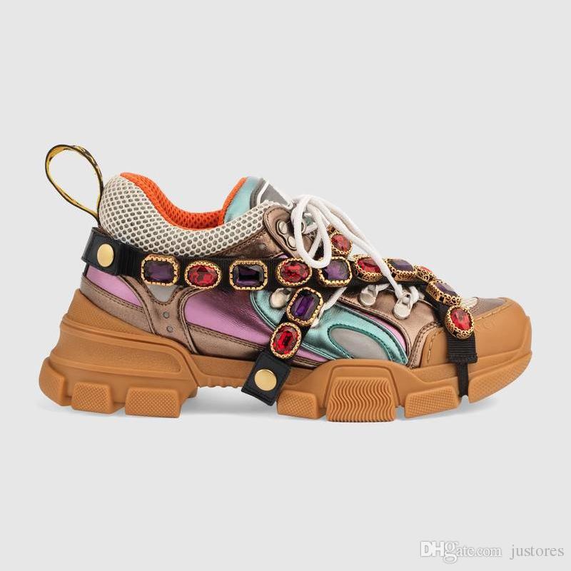 543b9d8646e 2018 Best Flashtrek Sneaker With SEGA Crystal Men Women Designer Sneakers  Italian Luxury Shoe Unisex Casual Shoes Outdoor Hiking Boots Shoes For Men  Sports ...