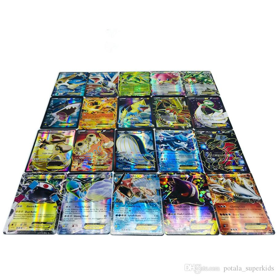 59PCS Poker Cards with iron box packing 59pcs Monster League educational game cards Classical Game 56PCS Ordinary Cards+3 Flashing Kids Card