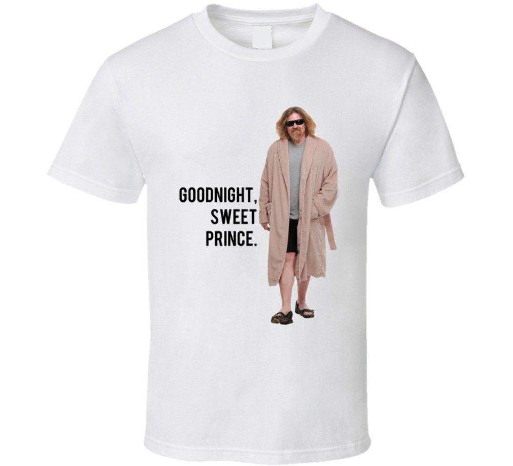 The Big Lebowski The Dude In Robes Goodnight Sweet Prince Quote T