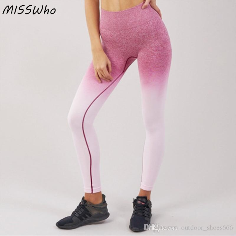 e2bc81ab63914 2019 Women Yoga Pants Seamless Leggings Tummy Control High Waisted Sport Leggings  Women Fitness Running Pants Workout Sport #20102 From Outdoor_shoes666, ...