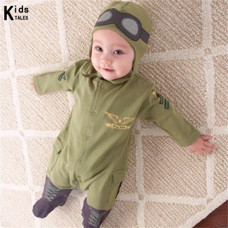 Rp-006 New Aviator Baby Rompers Newborn Babies Spring & Autumn Clothes Baby Jumpsuit Infant Clothes Bebe Clothes J190526