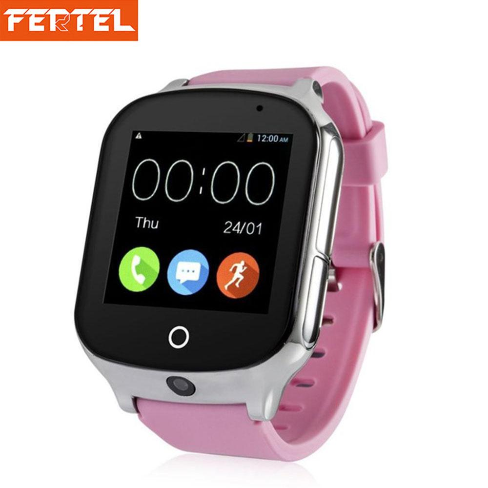 3G GPS Smart Watch for Kids Children Tracker Smartwatch With SIM Card WIFI SOS LBS Camera Health pedometer A19 Watchs