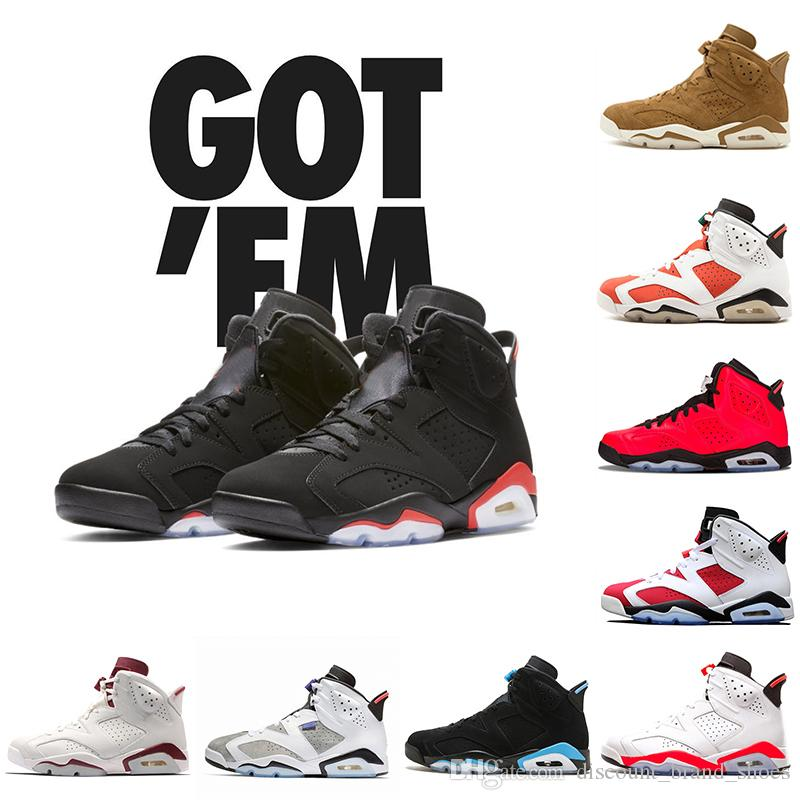4a28941d4091c0 2019 Black Infrared Men 6 VI 6s Basketball Shoes Tinker UNC Black Cat White  Red Carmine Mens Bred Designer Trainer Sports Sneakers 8 13 Basketball Shoes  For ...