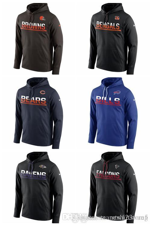 competitive price 42bd6 d2fb7 Cleveland Browns Atlanta Falcons Baltimore Ravens Buffalo Bills Chicago  Bears Cincinnati Bengals Sideline Circuit Pullover Performance Hoodi