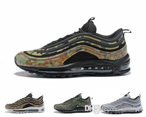51c640e086 2018 New 97 Country Camo Japan Italy UK Army Green Running Shoes Men 97s  Camouflage Ultra Bullet 3M Premium Zoom Trainers Sneakers 40 45 Purple Shoes  Scholl ...