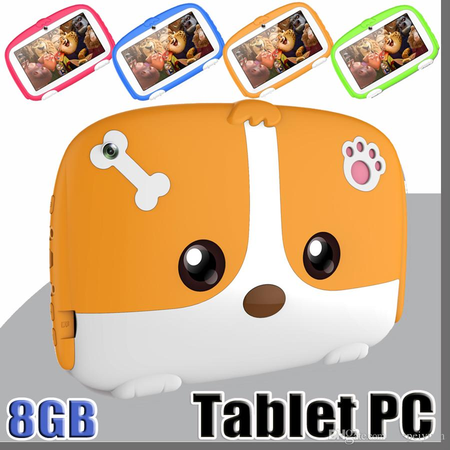OEM Kids Brand Tablet PC 7 7 inch Quad Core children tablet Android 6 0  Allwinner A33 google player real 1GB RAM 8GB ROM with package MQ10
