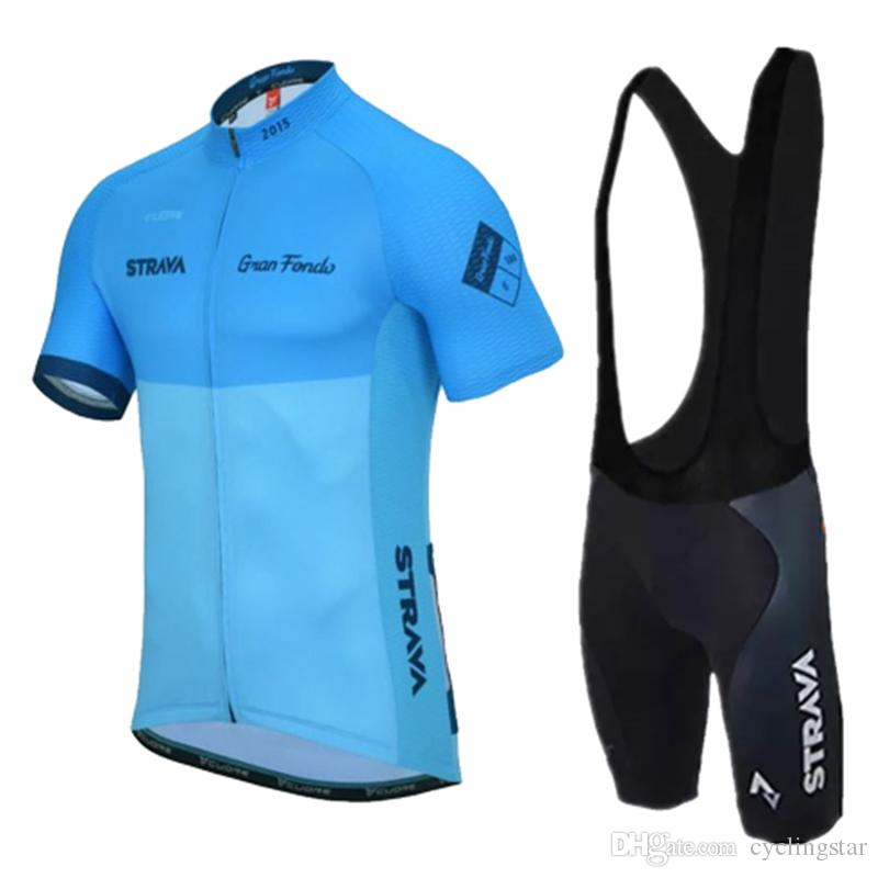 Hot Sale 2019 Men STRAVA Cycling Jersey Set Short Sleeve Road Bike Shirt  Bib Shorts Suits Breathable Quick Dry Outdoor Sportswear 122910Y Cycling T  Shirts ... 6b39a0b9b