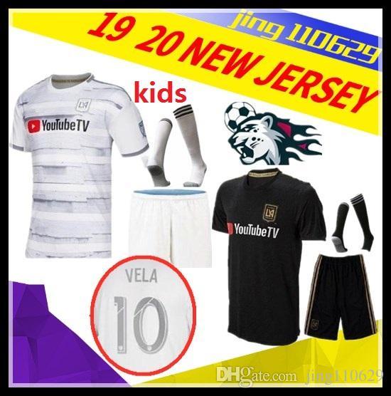 276da1efdcfb52 Kids Kit + Socks 2019 MLS LA Galaxy Soccer Jersey 19 20 Child Los ...
