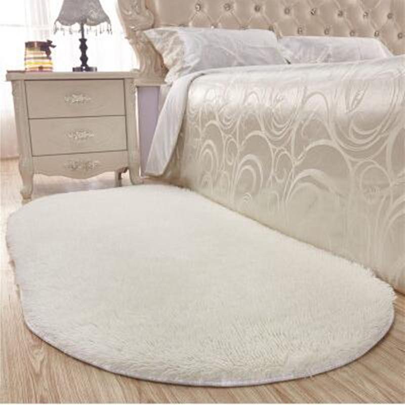 Di spessore ovale Stuoia Tappeto Camera da letto Tappeto Tappeto soggiorno  Tappetino Tavolino Pianoway Stuoia di portello Comodino Bagno Tappetini ...