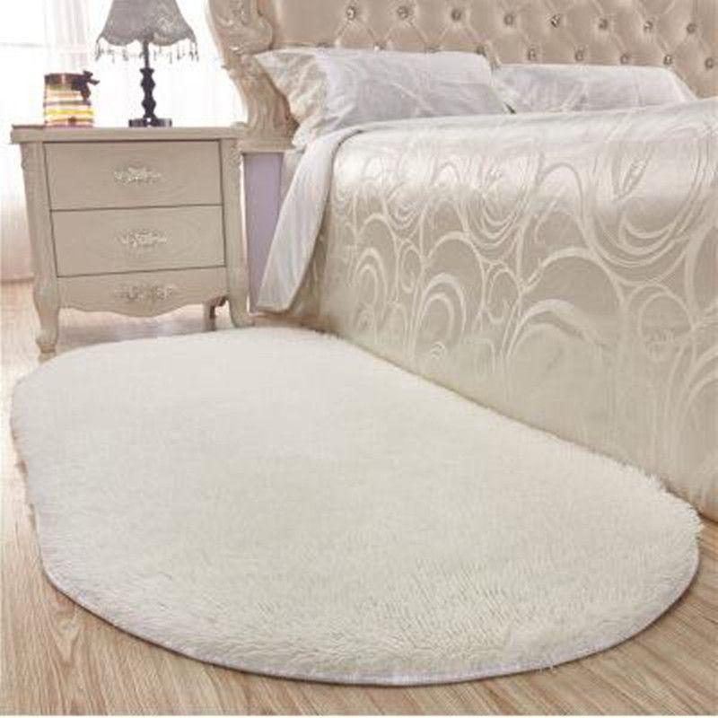 Bedroom Carpet Online Toddler Bedroom Door Gate Bedroom Ceiling Design 2017 Elephant Bedroom Decor: Thick Oval Silky Mat Bedroom Rug Carpet Living Room Rug