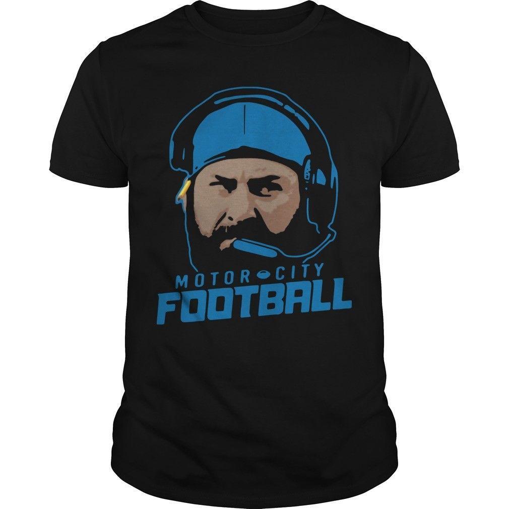 Motor City Football Shirt Hipster O Neck Cool Tops Hip Hop Short Sleeve  Funny Tee Shirts New Brand Clothing T Shirts Political Shirts Shirt T Shirt  From ... fce6fcbff