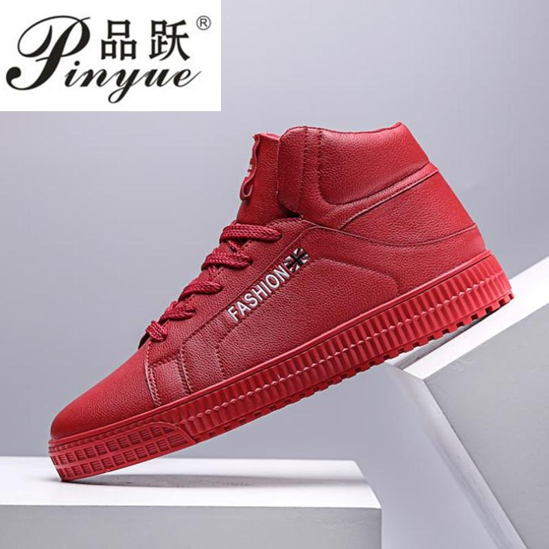 2b6cf9f4c0f9 Casual Sneakers Men High Top Microfiber Platform Shoes Brand Fashion Plaid  Mens Shoes Black Hot Footwear Male Vulcanize Best Shoes Italian Shoes From  ...