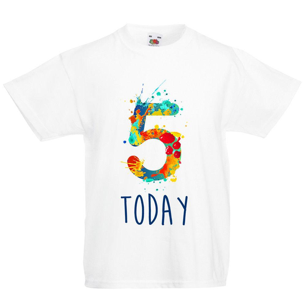 3366a1b24 Kids Paint Number Five T Shirt Fifth 5th 5 Birthday Today Gift Top Boys  GirlsMen Women Unisex Fashion Tshirt T Shirts Only Awesome Tee From ...