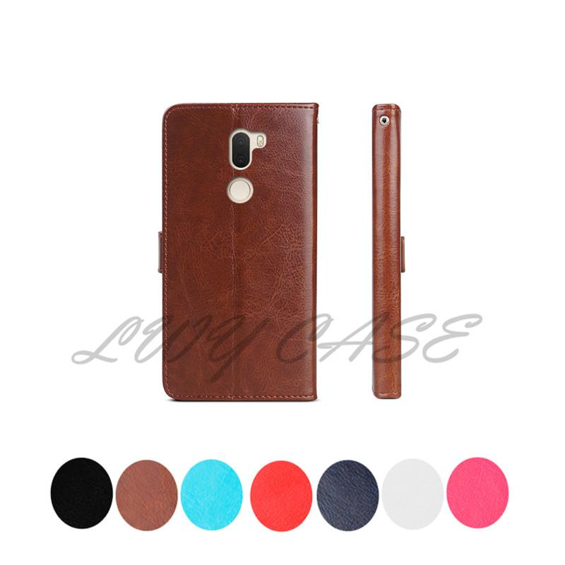 best service cdf58 070b4 For Xiaomi Redmi Note 7 Mi Play Pocophone F1 Retro flip Wallet Leather With  Card Slots Stand Holder Case