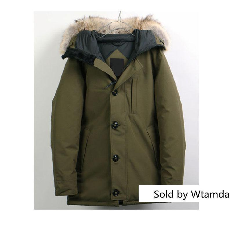 High Wolf Hair S Brand European Goose Parker Coat Down Jacket S Outdoor Sports Cold Warm Down Jacket