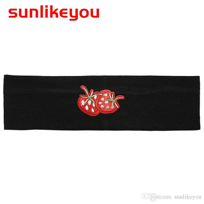Sunlikeyou 2019 Fashion New Baby Girls Boys Infant Toddler Plain Stretch  Cotton Strawberry Headband Lovely Hair Band Accessories Baby Hair  Accessories ... c6287a3ef9b