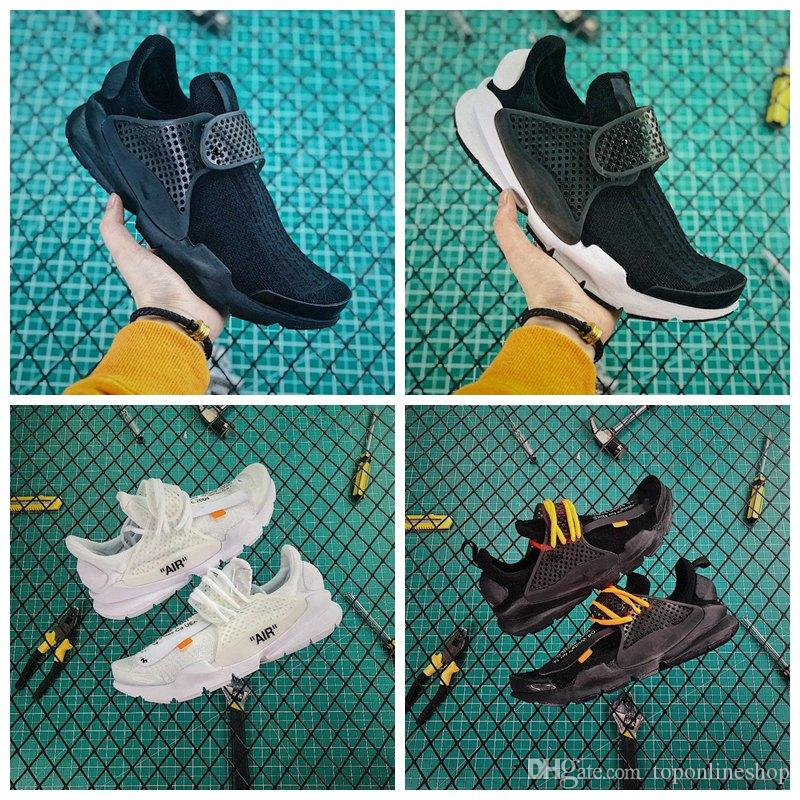 check out d0093 0d918 2019 Hot Sale Presto Sock Dart Breathable sp All Black and white Running  Sports Shoes Man Outdoor Jogging Casual Sneakers Siz 7-10