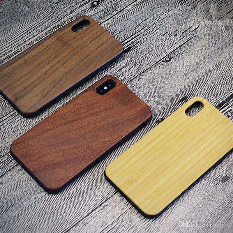 info for 576dd e1bba For iPhone 6 7 8 Plus Natural Wood Phone Case TPU Gel Soft Skin Wooden  Protective Phone Case Cover for Apple iPhone X Xs Max