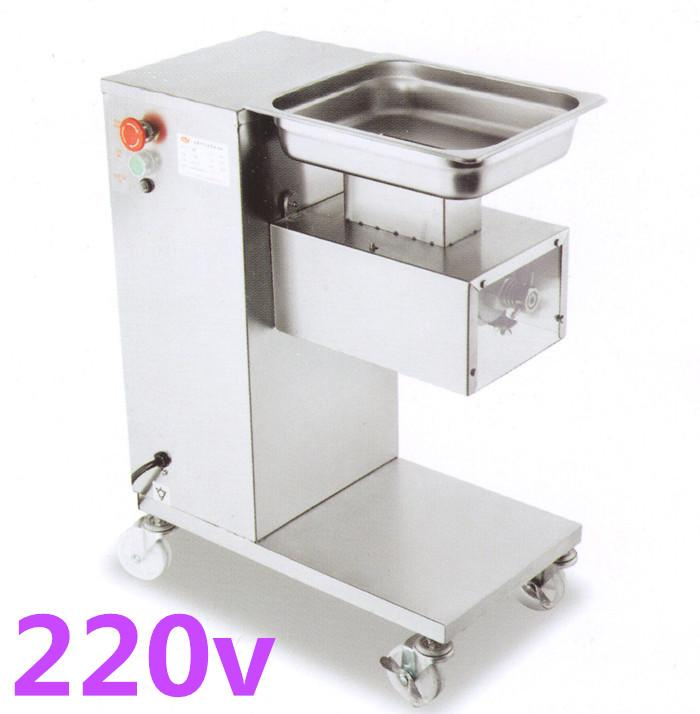 Wholesale - free shipping high qualit 220v vertical type QE meat cutting machine with pulley, 500kg/hr meat processing machine