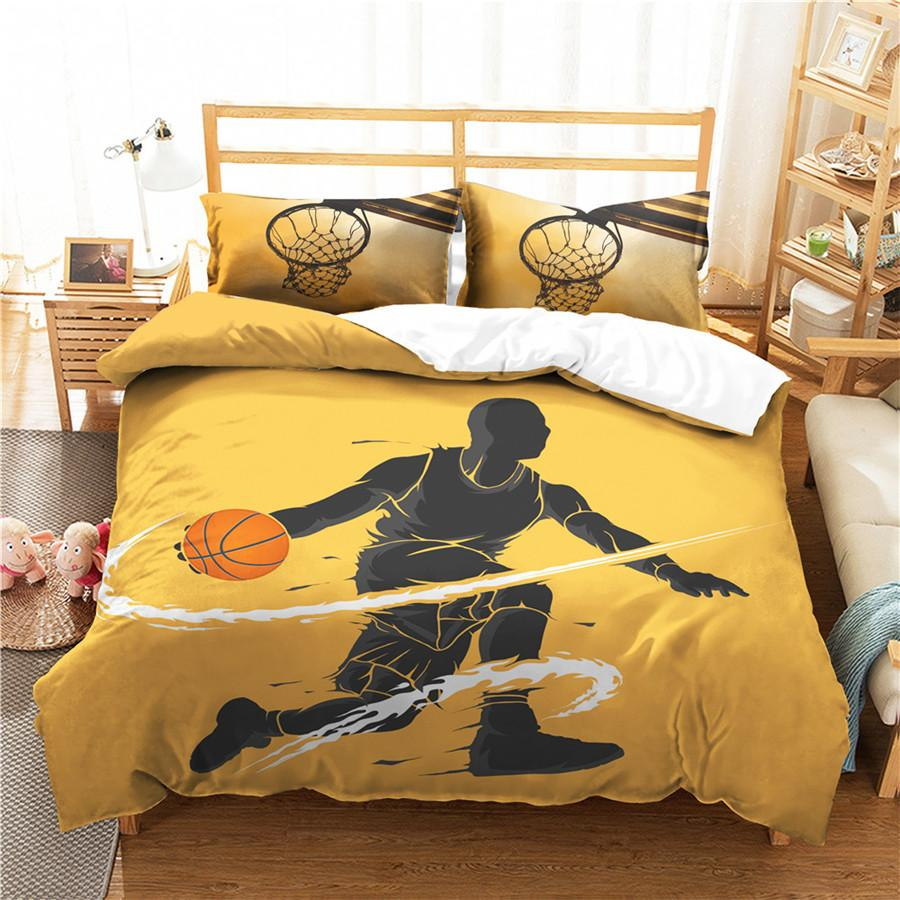 A Bedding Set 3D Printed Duvet Cover Bed Set Sport Basketball Home Textiles for Adults Bedclothes with Pillowcase #LQ15