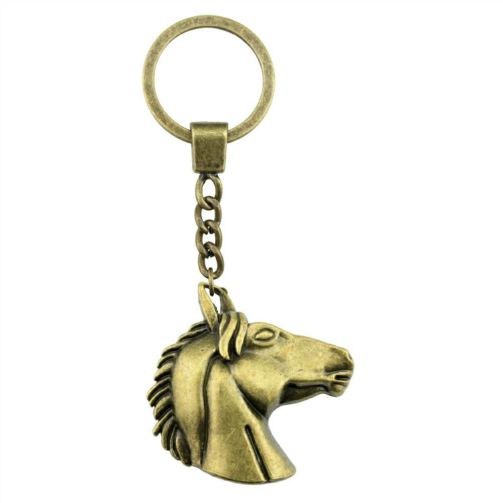 52x51mm Big Horse Head Key Ring Vintage New Fashion Metal Key Chain Party  Gift Dropshipping Jewellery Bottle Opener Keyring Leather Key Case From  Fenkbao 1e5902596514