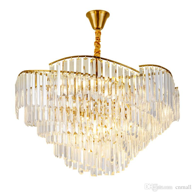 Ceiling Lights & Fans Modern Luxury Art Led Luster Crystal Chandeliers Bedroom Lamp Dining Room Acrylic Chandelier Lighting Fixture Attractive Designs;