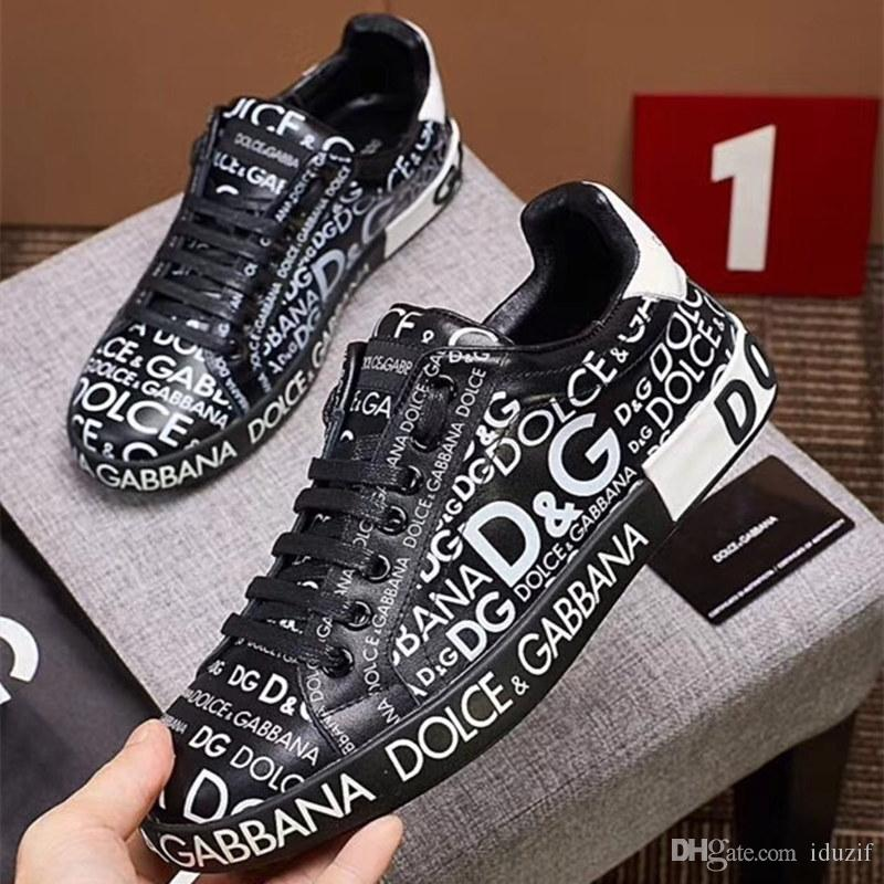 653b27450351 2019 Designer Luxury Mens Casual Shoes Genuine Leather Triple White Black  Trainer Men Fashion Leisure Run Sneaker With Box High Qualit Low Boots  Cheap Shoes ...